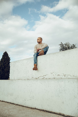 Retrato artístico urbano hombre