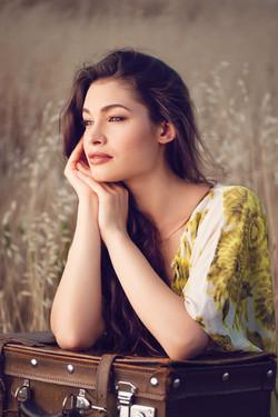 Fotografía retrato artístico actriz