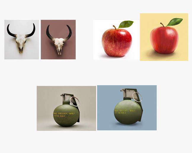 Skull, Apple, Bomb
