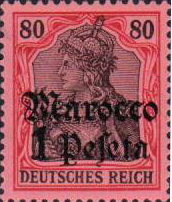 GERMANY (Offices in Morocco) - Scott # 28 - MNH