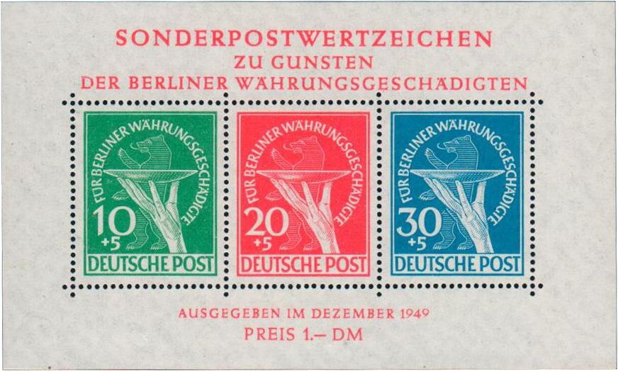 BERLIN - Scott # 9NB3a - MNH