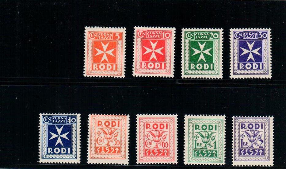 Aegean Isl. (Rhodes) - Scott #J1-9 - MLH