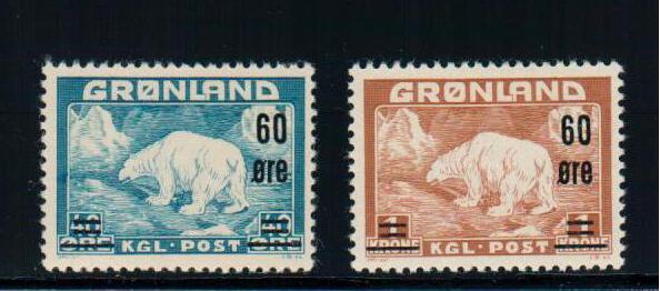 GREENLAND - Scott #39-40 - MNH