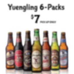 Yuengling 6 packs at WHEEL in Pottsville PA