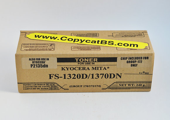 Kyocera Mita TK-172 New Generic Brand Black Toner Cartridge