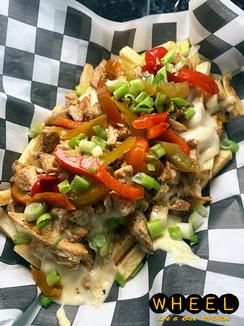Fajita Fries Appetizer at WHEEL in Pottsville, Pa.
