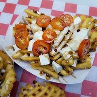 Caprese Waffle Fries