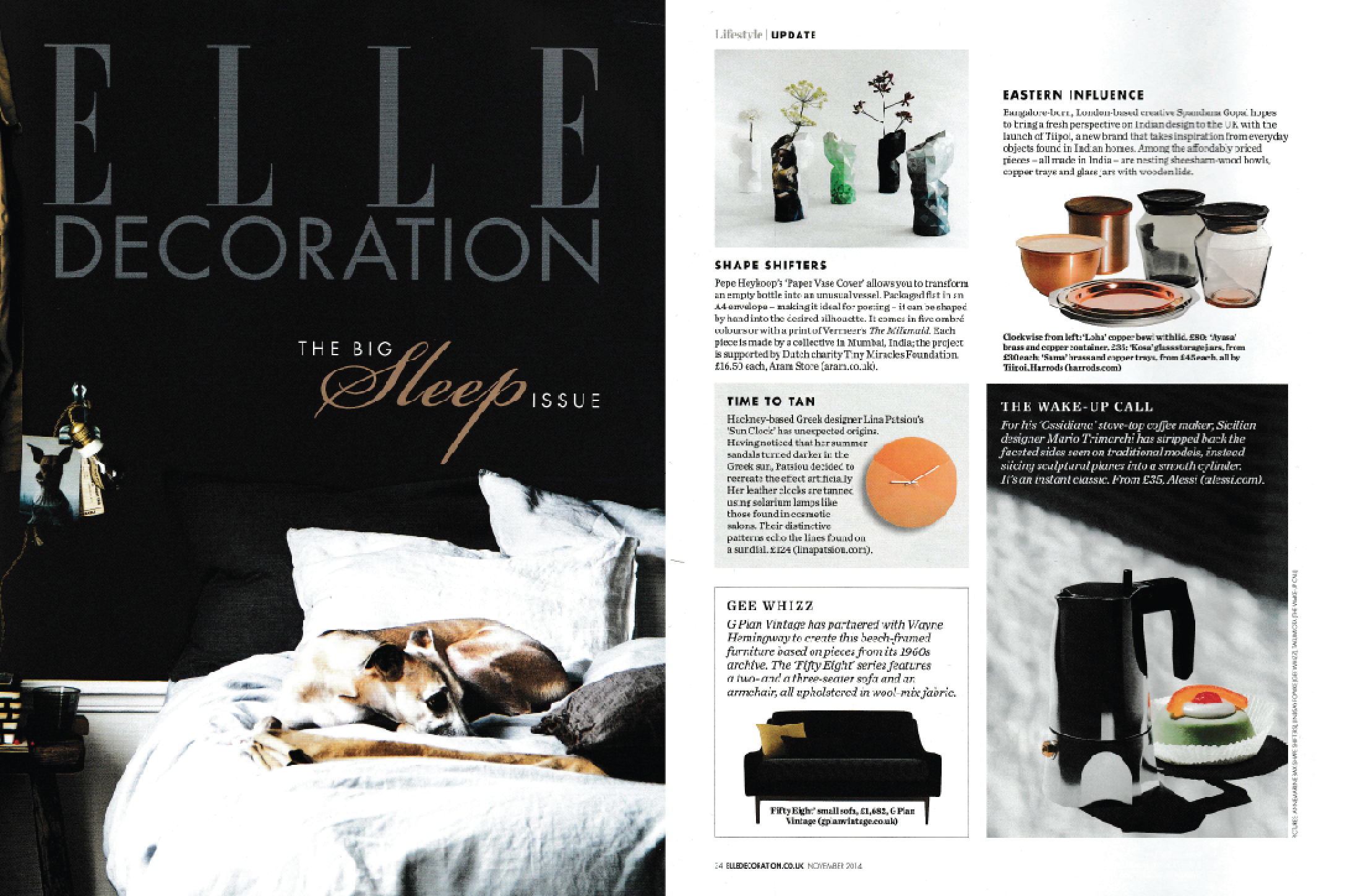 Elle Decoration UK, November 2014.