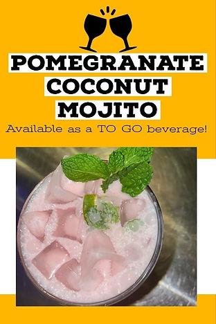 Pomegranate Coconut Mojito