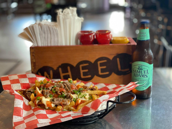 Try our new Philly Fries with a Sam Adams Porch Rocker!!!