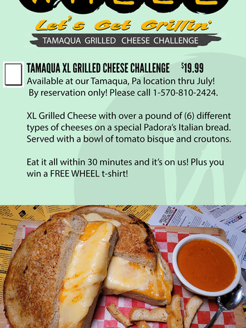 Tamaqua XL Grilled Cheese Challenge