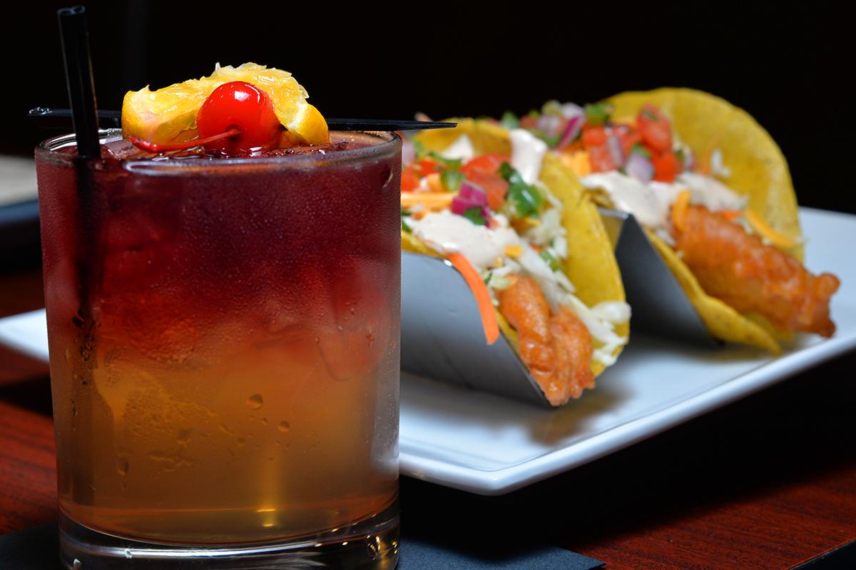 N.Y. Sour w/ Fish Tacos