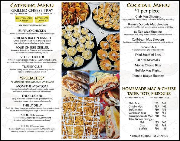 Wheel restaurant grilled cheese catering menu  Tamaqua, Pa