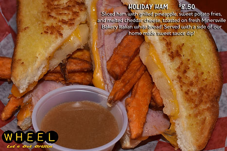 Holiday Ham Grilled Cheese at WHEEL in Pottsville, PA