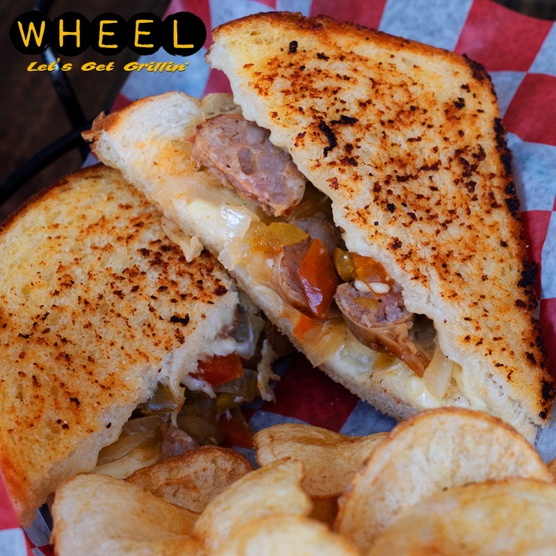 Sausage and Peppas Grilled Cheese
