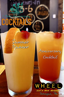 Anniversary cocktails at WHEEL in Tamaqua, Pa