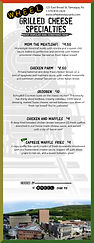 Featured grilled cheese menu