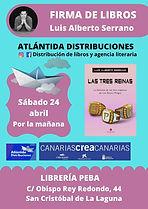 CartelLibreriaPeba-firma-LAS-TRES-REINAS