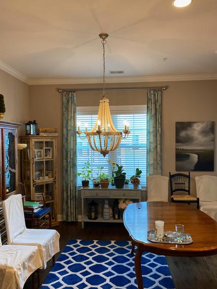 Dining room chandelier install