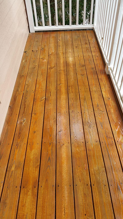 Wood cleaning after