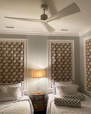 Bedroom ceiling fan install