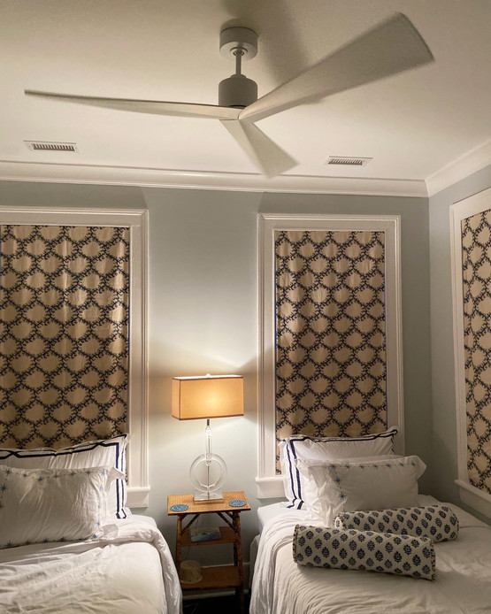 Bedroom ceiling fan install