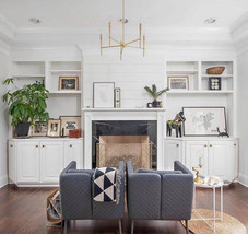 living room chic chandelier