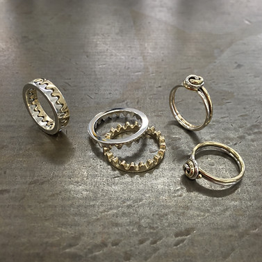 The Wave & Twist Rings