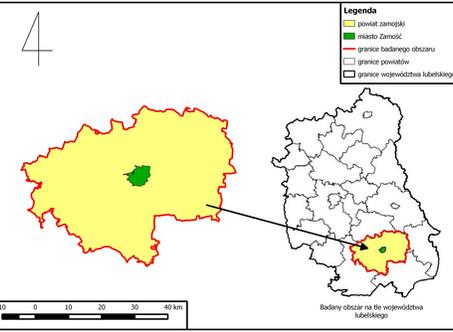 powiat zamojski mapy