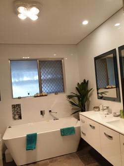 Bathroom renovation lighting heating