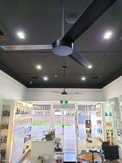 Salon Ceiling Fan Installation