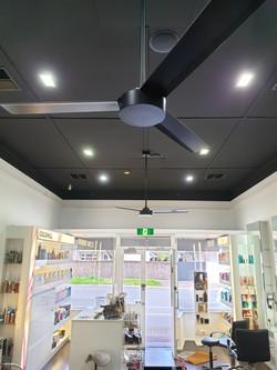 Salon Ceiling Fan Installation