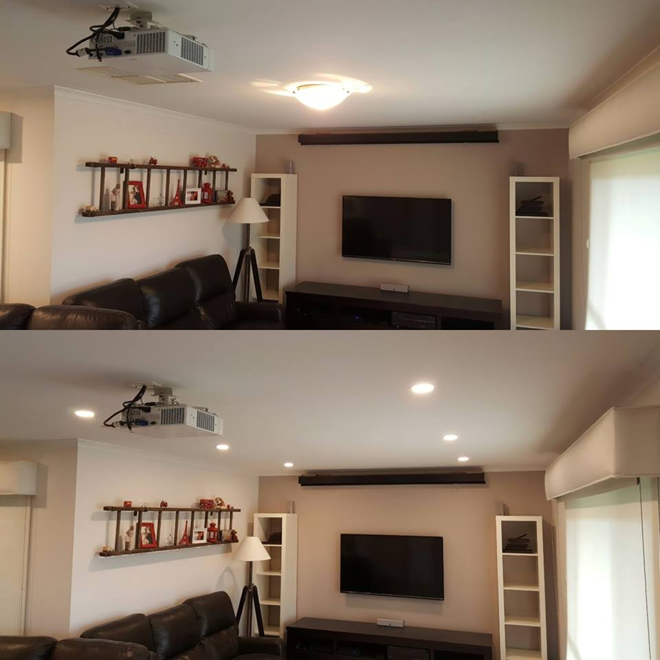 movie room downlights