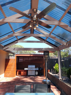 Pergola fan and lighting installations