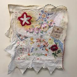 found textile collage
