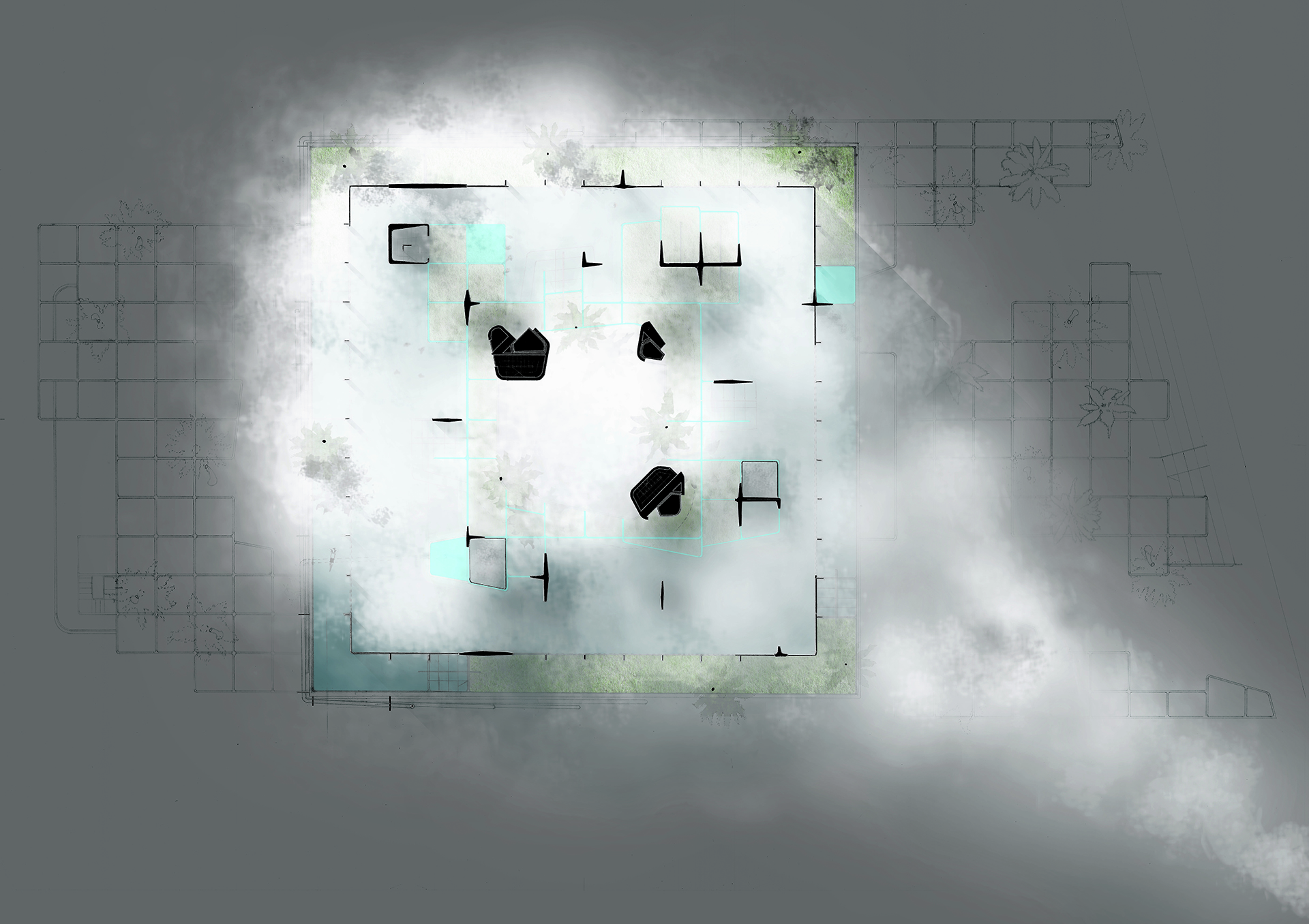 Fog Garden Plan / Day