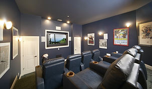 in home movie theater custom addition
