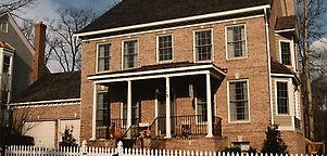Kentlands production home brick exterior