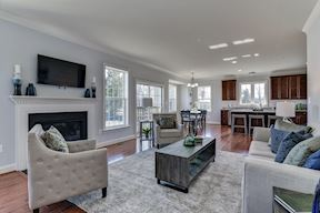 Family room and kitchen area