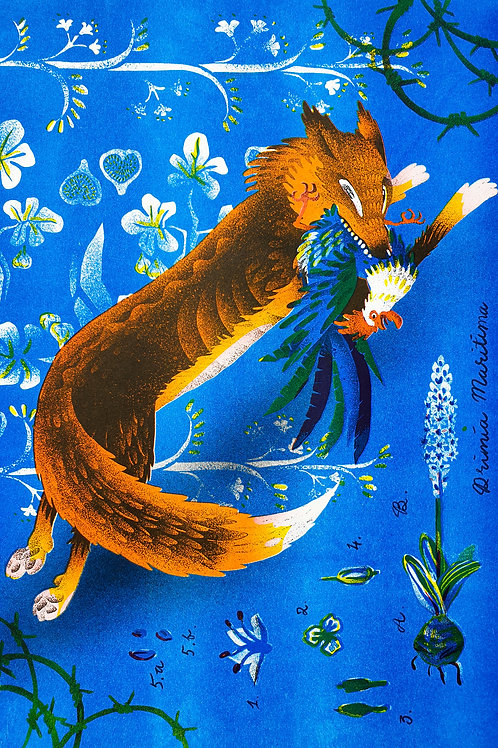 Fox snatches a rooster / Eli Babajanov