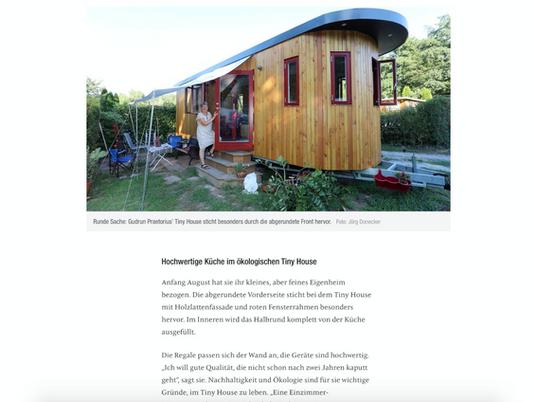 BNN Zeitung über die Tiny-House-Siedlung in Waldbronn. Hier steht auch eines unserer Tiny Houses