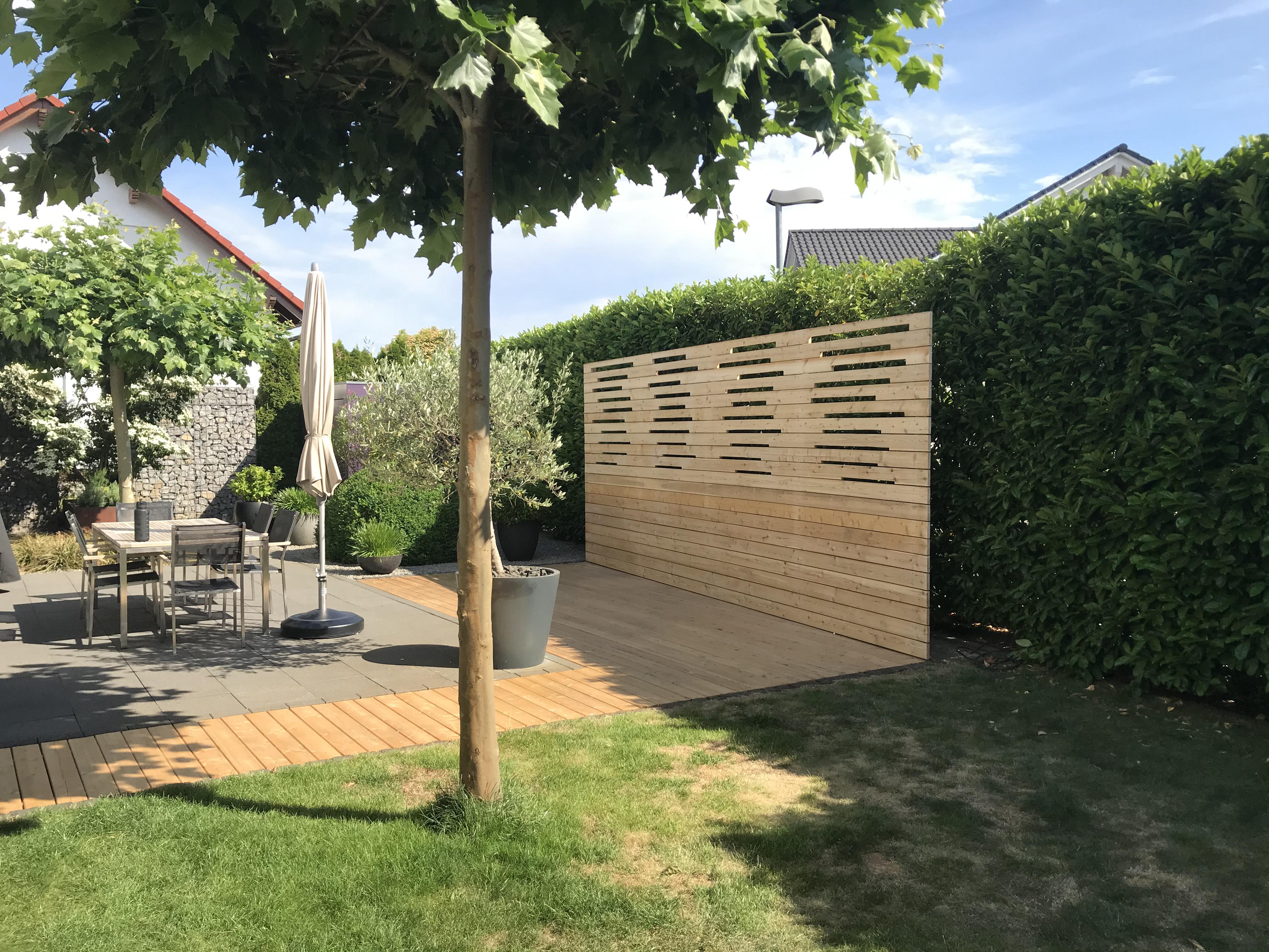 Terrassen Bau