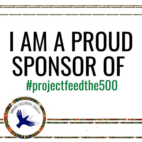 I sponsor Feed the 500