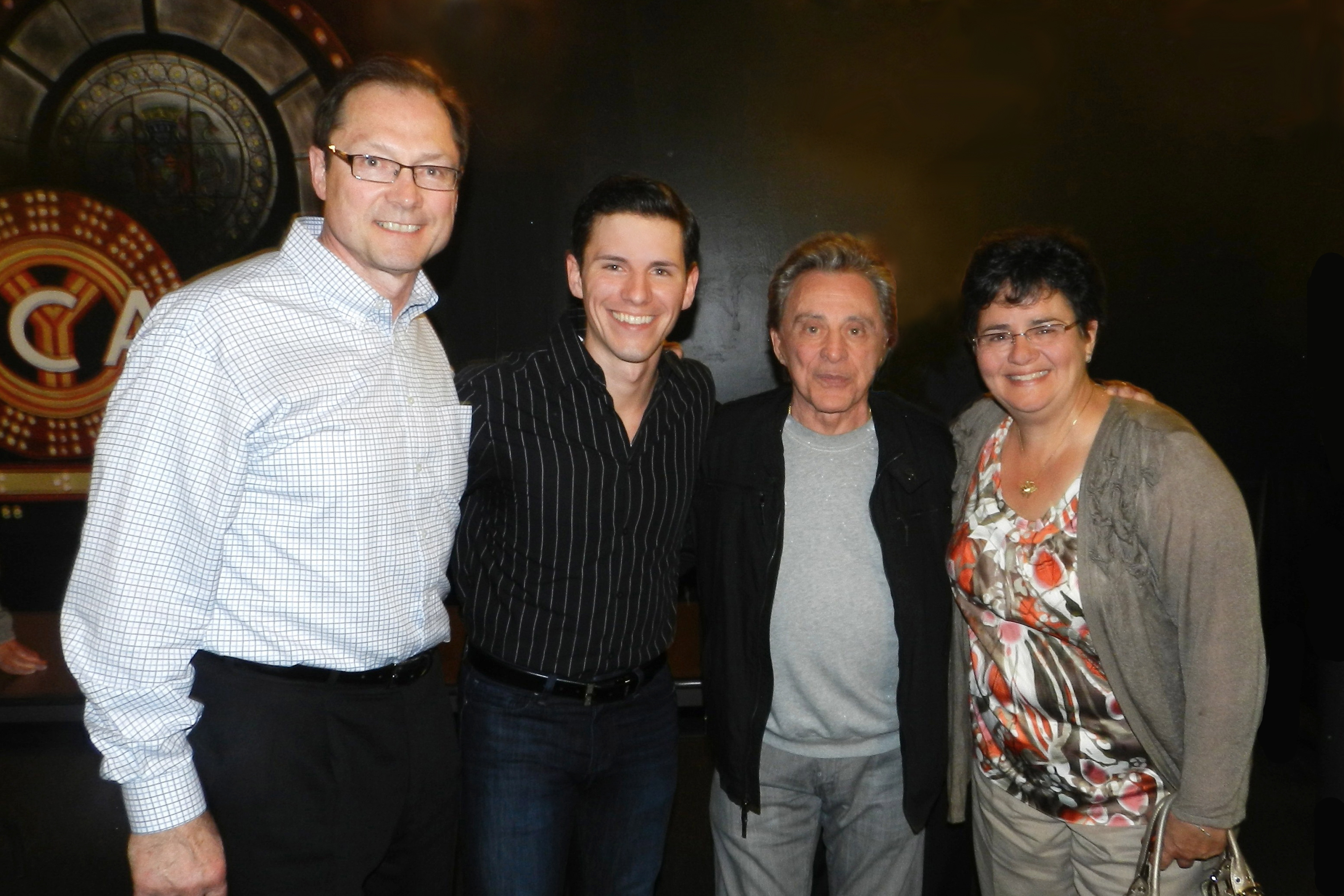 My parents and I with Frankie Valli