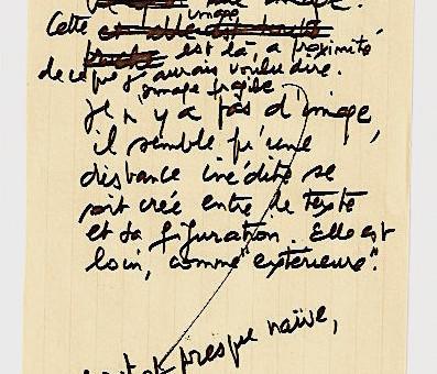 Un poème manuscrit