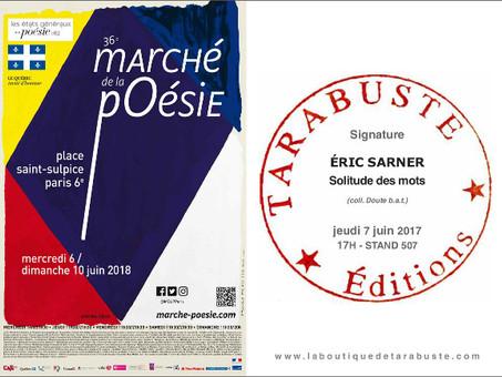 SIGNATURE AU MARCHÉ DE LA POÉSIE 2018
