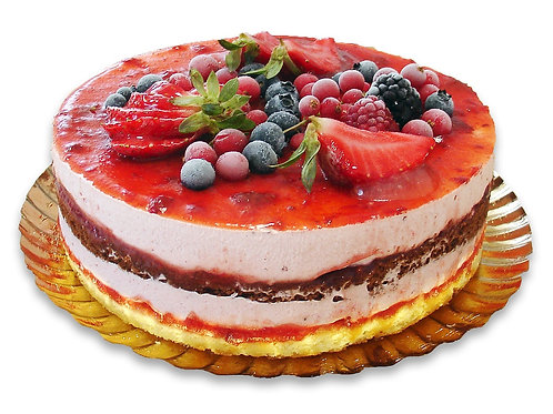 rote Früchte Kuchen