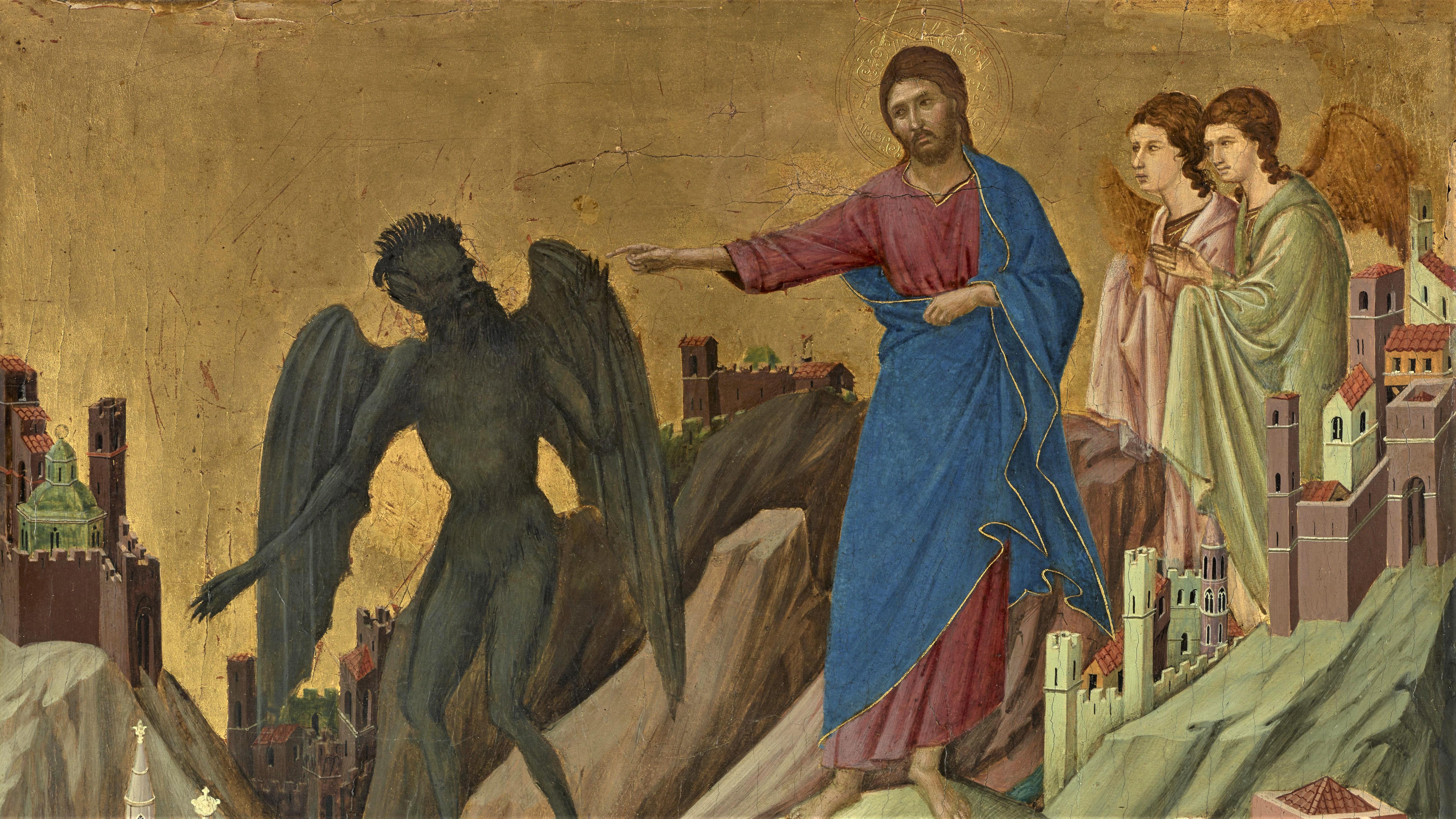 Duccio di Buoninsegna: The Temptation of Christ on the Mountain