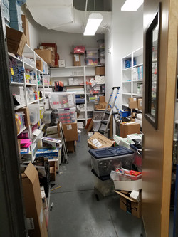 School Supply Closet Before
