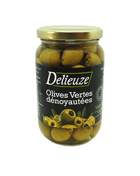 Bocal olives vertes dénoyautées 37 cl